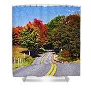Rolling Thru West Virginia Impasto Shower Curtain