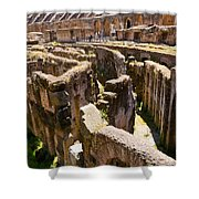 Roman Coliseum Underground Shower Curtain