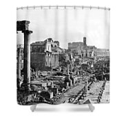 Roman Colosseum - Italy -  C 1906 Shower Curtain