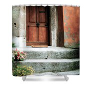 Roman Door And Steps Rome Italy Shower Curtain