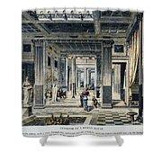 Roman House Interior Shower Curtain