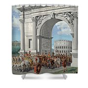 Roman Soldiers Lead Chained Captives Shower Curtain