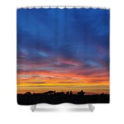 Roman Sunset Shower Curtain