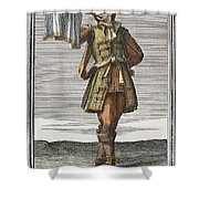 Roman Trumpet, 1723 Shower Curtain