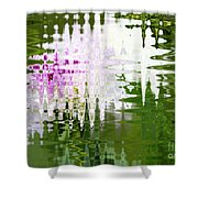 Romance In Paris - Abstract Art Shower Curtain