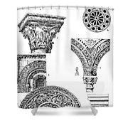 Romanesque Ornament Shower Curtain