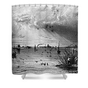 Romania: Mouth Of Danube Shower Curtain