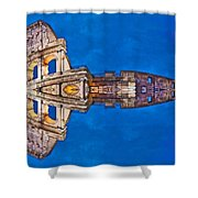 Romano Spaceship - Archifou 73 Shower Curtain