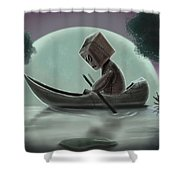 Romantic Boat Ride For One Shower Curtain