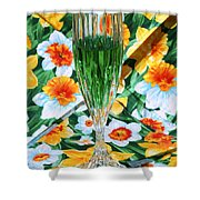 Romantic Emerald Shower Curtain