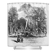 Rome: Borghese Gardens Shower Curtain
