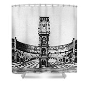 Rome: Colosseum, 1685 Shower Curtain