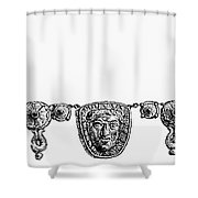 Rome: Gold Necklace Shower Curtain