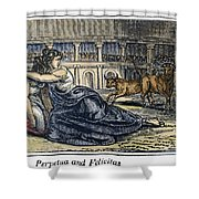 Rome: Perpetua & Felicitas Shower Curtain