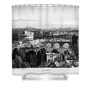 Rome: Scenic View, 1833 Shower Curtain