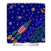 Romney Rocket - Restoring America's Promise Shower Curtain