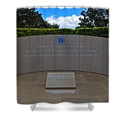 Ronald Reagan Memorial Shower Curtain