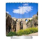 Ronda Bridge In Spain Shower Curtain