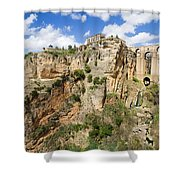 Ronda Rocks In Andalusia Shower Curtain