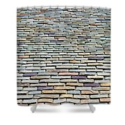 Roof Tiles Shower Curtain