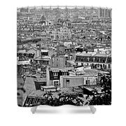 Roof Tops Of Paris Shower Curtain