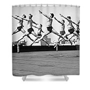 Rooftop Dancers In New York Shower Curtain