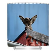 Rooftop Gargoyle Statue Above French Quarter New Orleans Shower Curtain