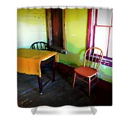 Room With Red Chair Shower Curtain