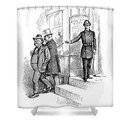 Roosevelt Cartoon, 1884 Shower Curtain