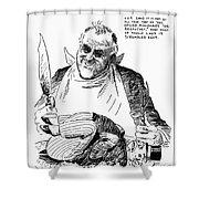 Roosevelt Cartoon, 1938 Shower Curtain