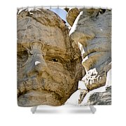 Roosevelt On Mt Rushmore National Monument Shower Curtain