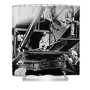 Roosevelt, Panama Canal Construction Shower Curtain