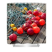 Ropes And Buoys Shower Curtain