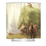 Roping The Wagon Shower Curtain