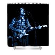 R G Art Blue Shower Curtain