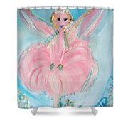 Rose Fairy Shower Curtain