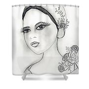 Rose Flapper Shower Curtain