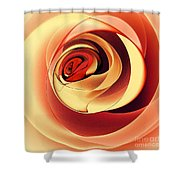 Rose Series - Pink Shower Curtain