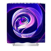Rose Series - Violet-colored Shower Curtain