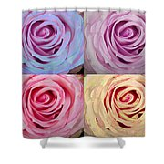 Rose Spiral Colorful Mix Shower Curtain