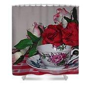 Rose Tea Shower Curtain