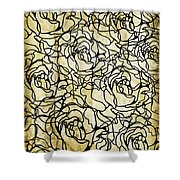 Roses Pattern Shower Curtain by Setsiri Silapasuwanchai