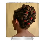 Rosettes Shower Curtain by Kristin Elmquist