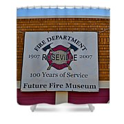 Roseville Fire Department Museum Shower Curtain
