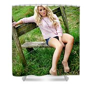 Rosey10 Shower Curtain