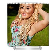Rosey15 Shower Curtain