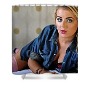 Rosey18 Shower Curtain