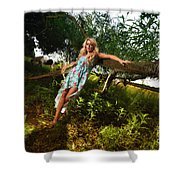 Rosey4 Shower Curtain