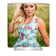 Rosey6 Shower Curtain