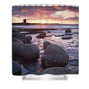 Roslee Castle, Easky, County Sligo Shower Curtain